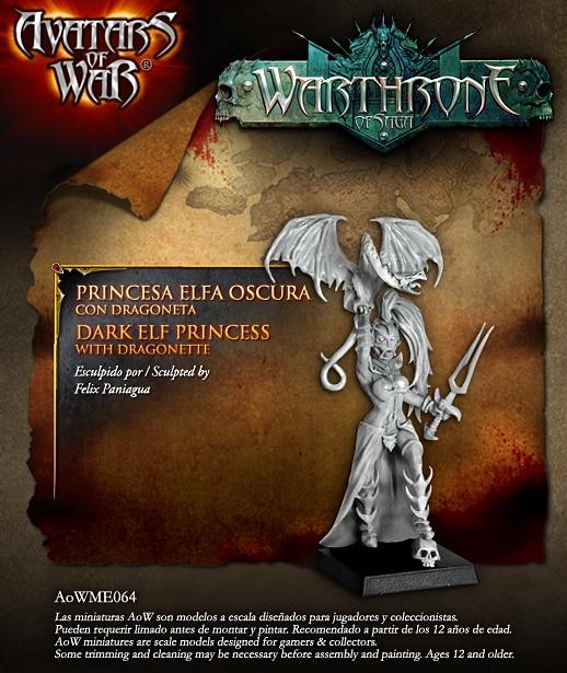 30mm   Dark Elf Princess And Magic PigeonHordes Tribe Oro Los Una The Skyhunter