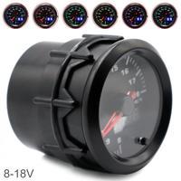 52MM 2 Zoll Dual Display 8 ~ 18V Auto Voltmeter Universal 7 Farbe Hintergrundbeleuchtung Auto Elektrische Voltmeter
