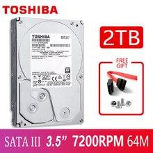 TOSHIBA disque dur interne HDD de 2000 pouces pour ordinateur de bureau, avec une capacité de 2 to (7200 go), 3.5 RPM, 64 mo de cache, sata 3