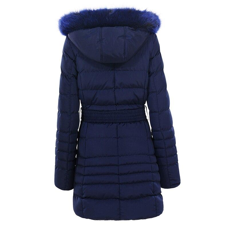 GLO STORY ผู้หญิง 2019 ฤดูหนาวเสื้อแจ็คเก็ตและเสื้อโค้ทสตรีหนาอบอุ่น Parkas ปรับเข็มขัดเอวและขนสัตว์ Hoodie WMA 4731-ใน เสื้อกันลม จาก เสื้อผ้าสตรี บน   2