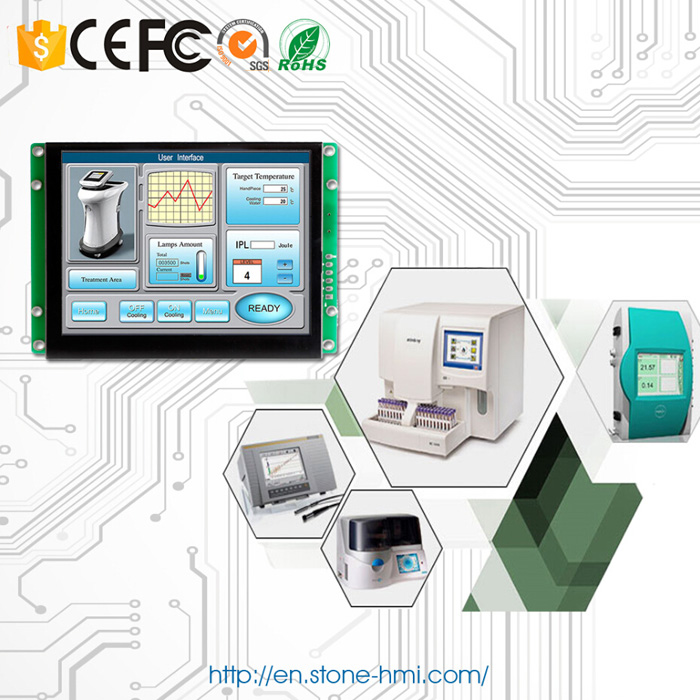 5 inch embedded HMI touch screen with RS232 RS485 TTL MCU port - 4