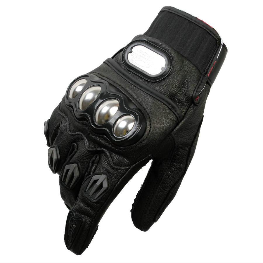 Leather motorcycle gloves best - Sale Pro Biker Motorcycle Gloves Full Finger Racing Motocross Gards Motorbike Protective Gear Motor Gloves Real Leather Gloves Best