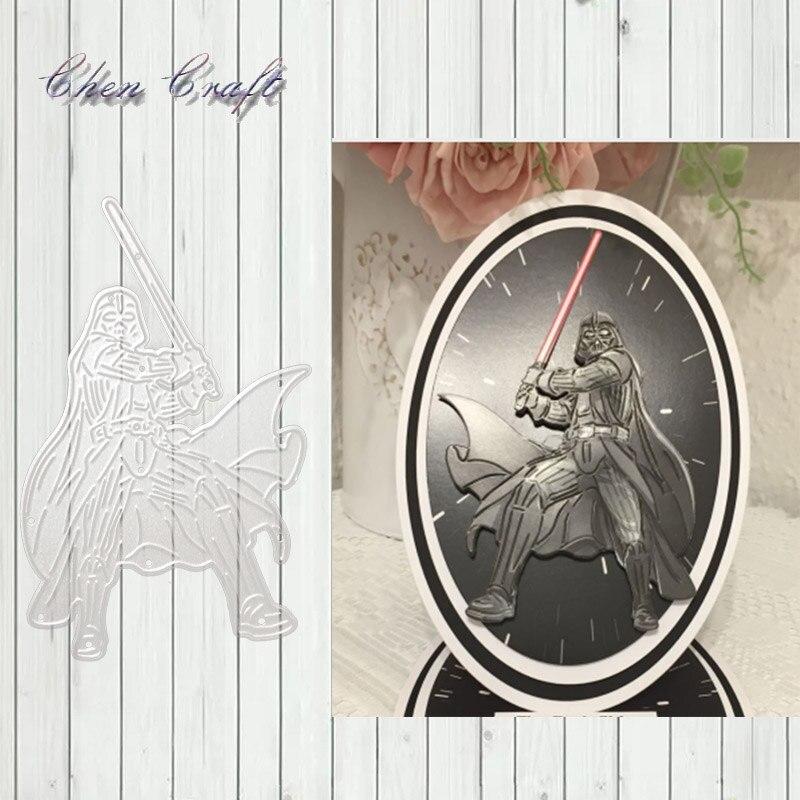 Warrior With Sword Metal Cutting Dies Stencil DIY Scrapbooking Photo Album Decor Embossing Cards Making DIY Crafts