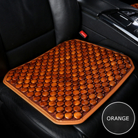 Summer Car Seat Covers Comfort Wooden Beads Seat Cushion Cooling Seat Pad Mat for Auto Home Office Chair