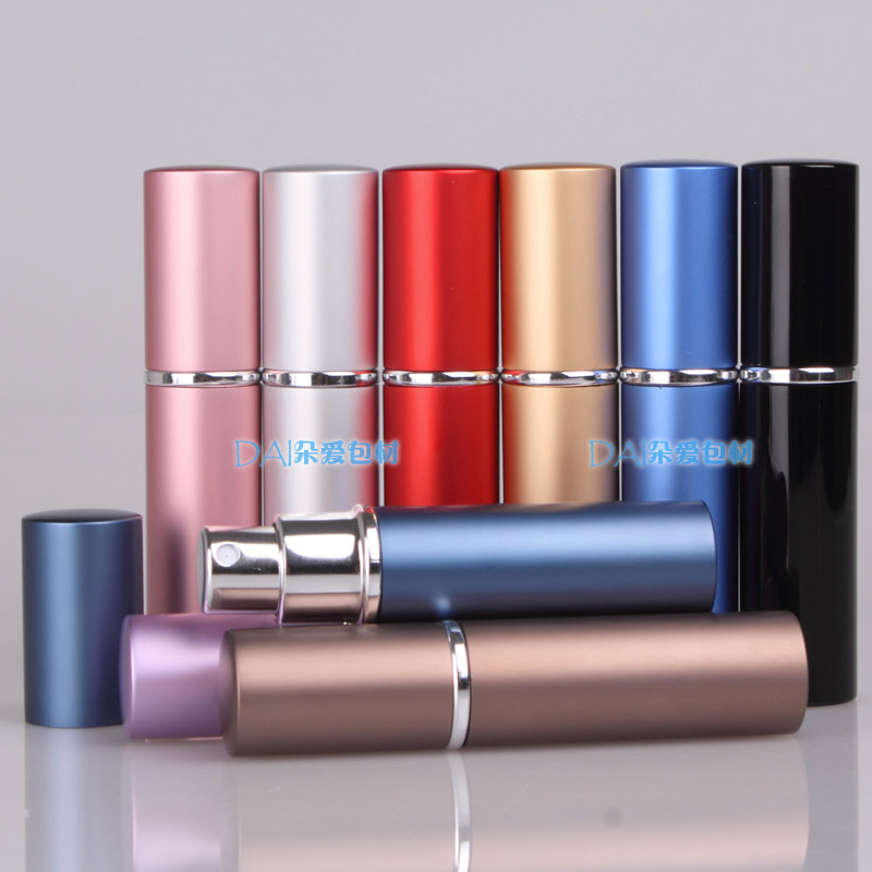 6 ML Mini Portable Aluminum Refillable Perfume Bottle With Spray Empty Cosmetic Containers With Atomizer For Traveler blue 110ml crystal glass empty refillable woman perfume bottle atomizer long bulb spray scented fragrance containers bottle