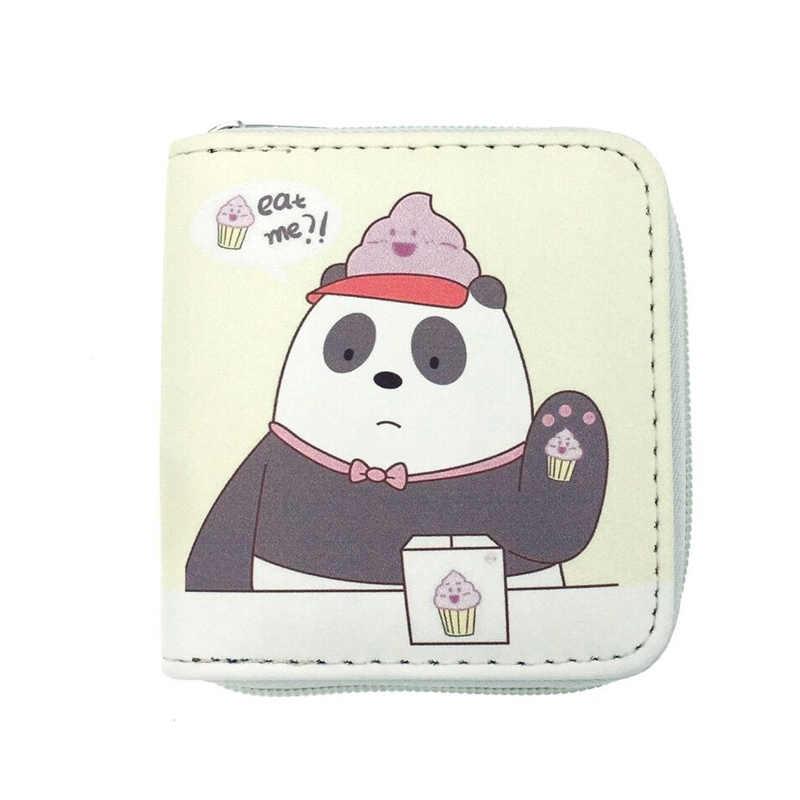 Beer Varken Panda Animal Gedrukt Korte Portemonnee Meisjes Rits PU Lederen Portemonnee Leuke Cartoon Korea Bentoy Kaarthouder Japan Coin portemonnee