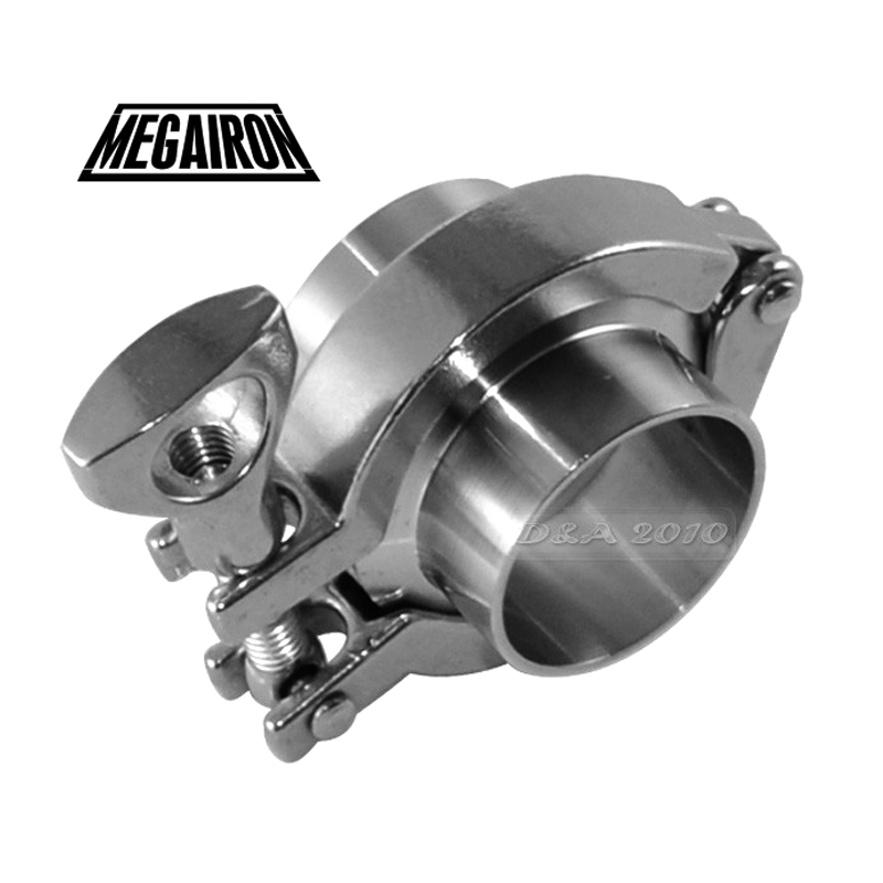 MEGAIRON Stainless Steel SS316 Pipe OD 51mm 2 Flange Weld Ferrule Set +2 PIFE Gasket + 2 Tri Clamp Clover Pipe Fittings Set