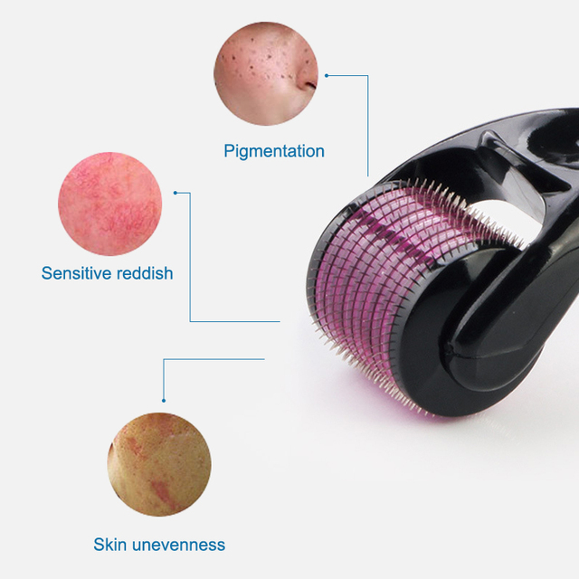 DARSONVAL DRS 540 derma roller micro needles titanium microneedle mezoroller machine for skin care and hair-loss treatment 2