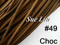 10pcs 3mmx1.5mm Choc Flat Faux Suede Velvet Leather Cord -1M/pcs NCS27-49