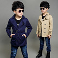 2016 Spring Boys Jackets & Coats Kids Girls Boys Trench Casual Outwear for Boys Children Long Sleeve Thick Jackets Trench 5-12Y