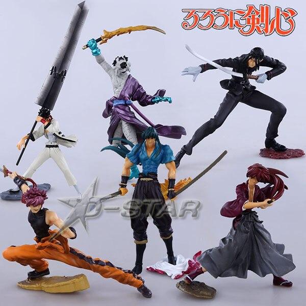 Free Shipping Cool 6pcs Rurouni Kenshin Anime Boxed 6pcs