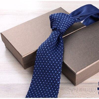 Men's Fashion Korean casual wild wool knit British knuckle narrow version of the tie gift box 6cm width wedding tie