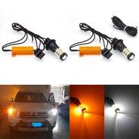 Katur 2pcs T20 7440 W21W LED Turn Signal Bulbs 1156 BA15S BAU15S 3156 7440 Canbus Daytime