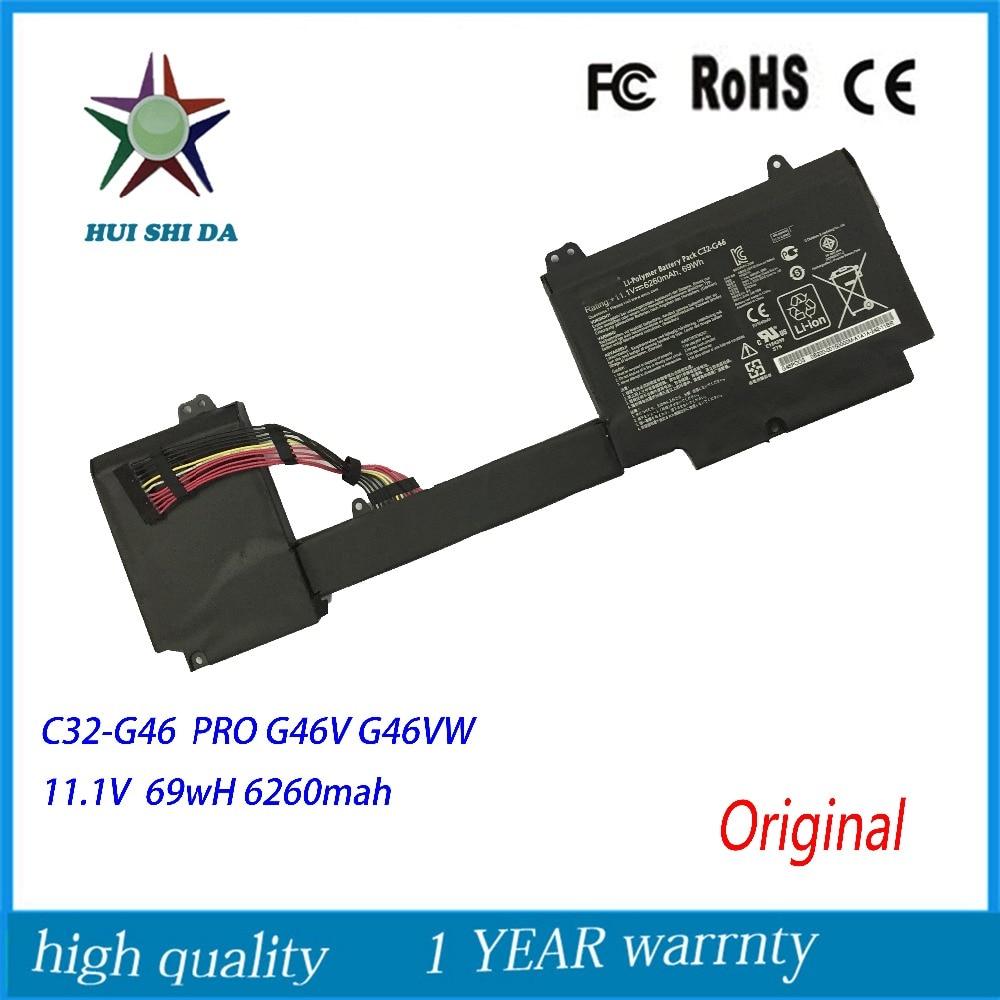 ФОТО 11.1V 69Wh New Original Laptop Battery for ASUS C42-G46 G46 G46V G46VW PRO
