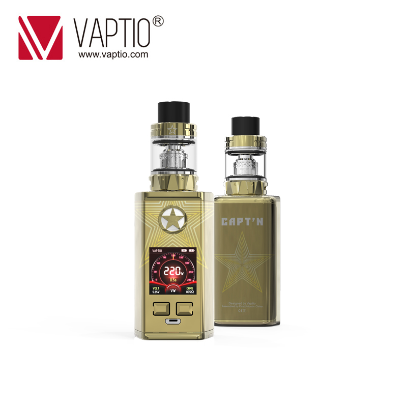 Authentic Electronic Cigarette CAPTAIN Kit 220w box mod Fitted TFV8 Baby Tank 4.0ml Top filling & Bottom Airflow atomizer Vapor
