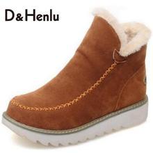 {D & H}รองเท้าแบรนด์ผู้หญิงฤดูหนาวรองเท้าแบนรองเท้าที่อบอุ่นสำหรับผู้หญิงแฟชั่นรองเท้าลำลองรองเท้าบวกขนาดz apatilla mujer marca 2016
