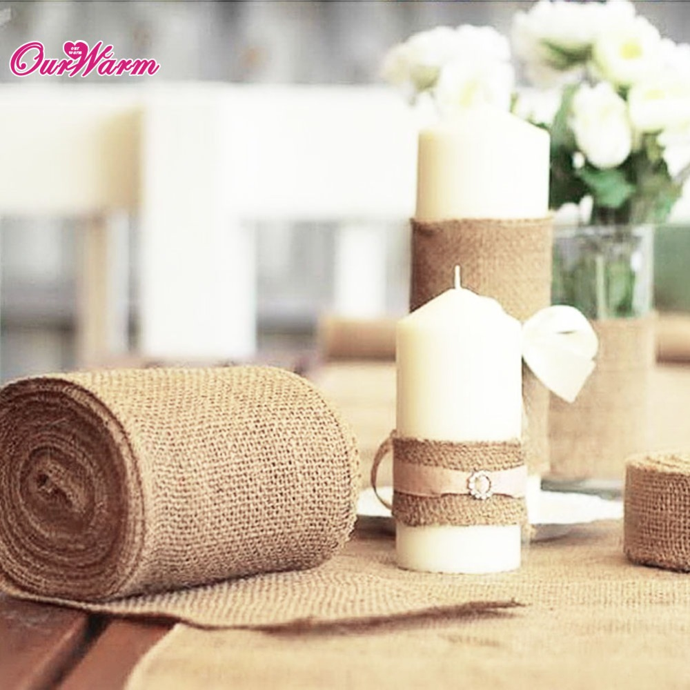 10M*15CM Vintage Jute Burlaps Roll for Wedding Decoration in Table ...