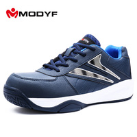 MODYF Men Steel Toe Work Safety Shoes Casual Breathable Outdoor Protective Footwear Sports Style Brand Spring