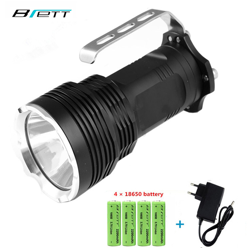 LED Flashlight 18650 CREE XM L2 White and yellow can choo long-range 500-800 meters Outdoor portable Rechargeable Searchlight