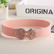 Rose Cinturon Flores Flower Sash Wedding Dress Women Belt Elastic Flor Belts Cinture Donna Elastiche Faja Corset Dames Riem