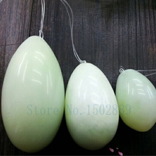 FREE SHIPPING 100% natural  jade egg for Kegel Exercise 3pcs in one sets Pelvic Muscle Vaginal Tightening Ben Wa ball yoni egg free shipping 10 sets lot set 3 natural obsidian jade egg for kegel exercise pelvic muscle vaginal tightening ben wa yoni egg