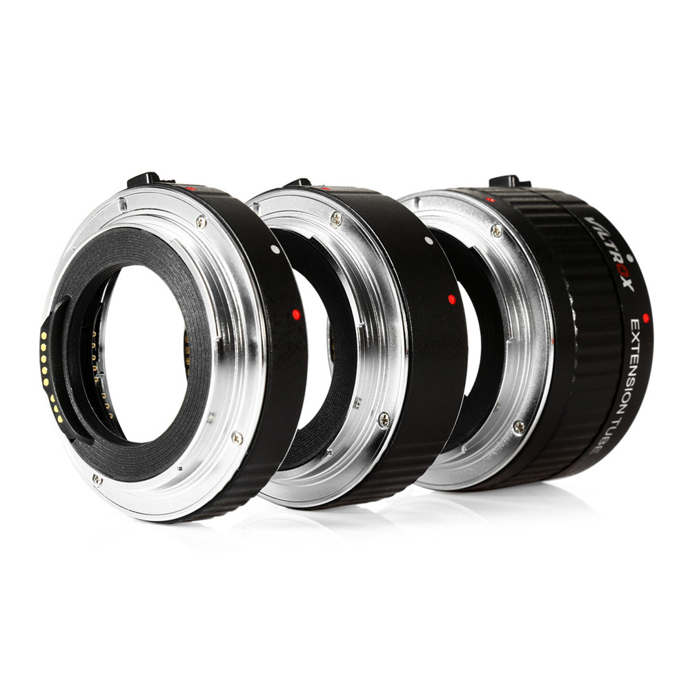 все цены на Lens Adapter Viltrox DG - C 12MM 20MM 36MM AF Auto Focus Metal Mount Macro Extension Tube Set for Canon EOS Series Camera онлайн
