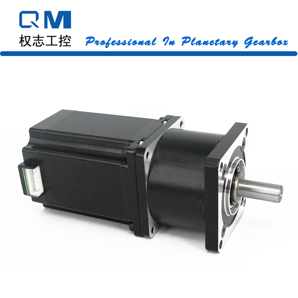 Gear stepper motor nema 23 stepper motor L=77mm planetary reduction gearbox ratio 3:1  cnc robot pump nema23 geared stepping motor ratio 50 1 planetary gear stepper motor l76mm 3a 1 8nm 4leads for cnc router