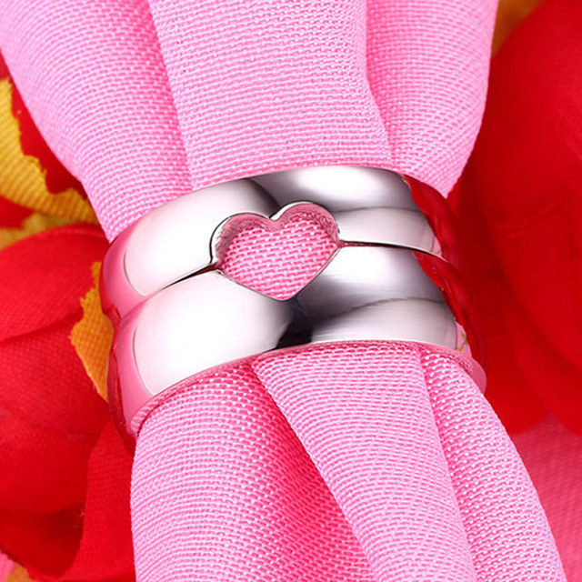 Silver Color Alliance Ring Quality Stainless Steel Love Ring Wedding Couple Ring for Women and Men Utr8041