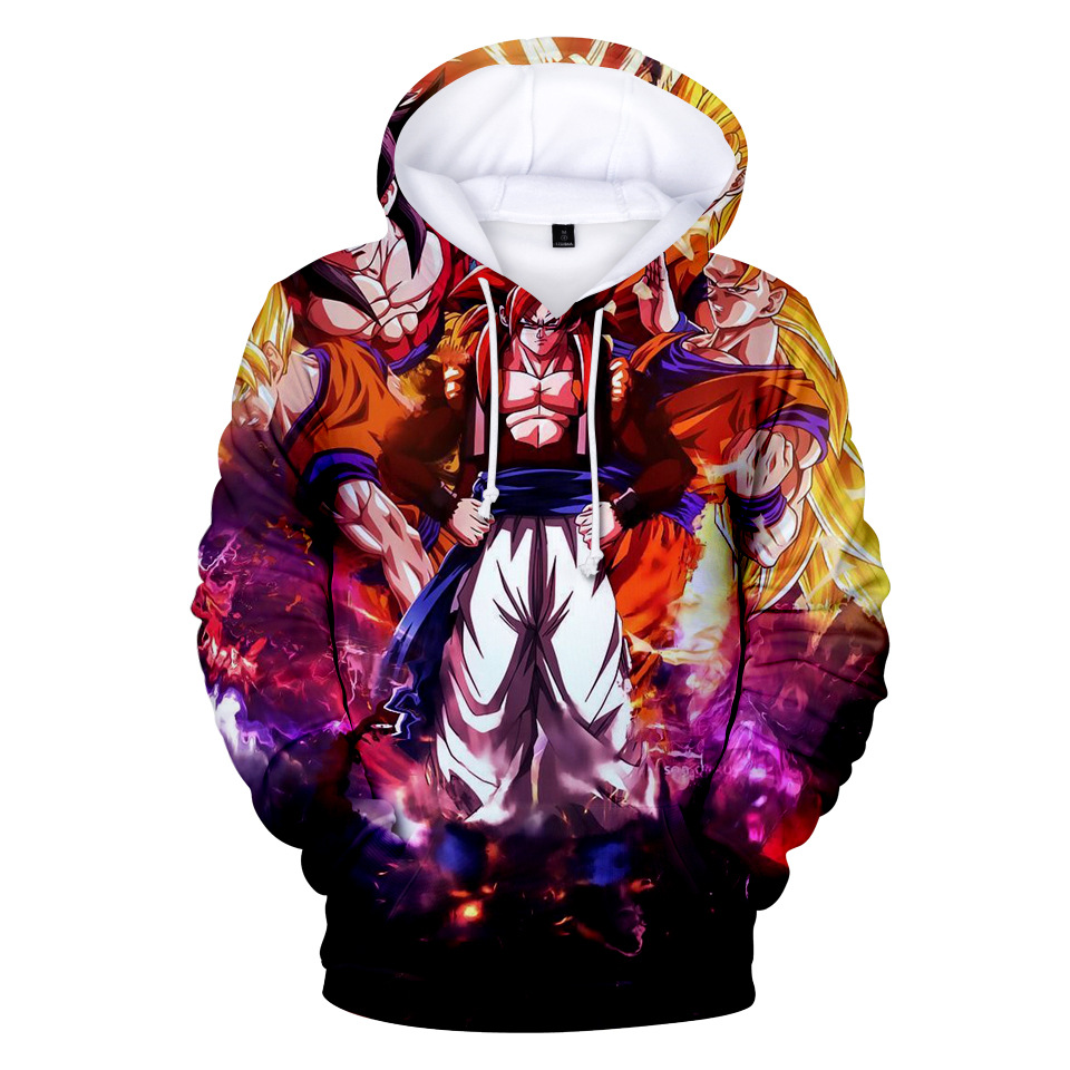 <font><b>Dragon</b></font> <font><b>Ball</b></font> <font><b>Z</b></font> 3D Hoodie Sweatshirts Men Women Hoodie Muscle Anime Fashion Casual Tracksuits Boy <font><b>Jackets</b></font> Hooded Pullover SON <font><b>GOKU</b></font> image