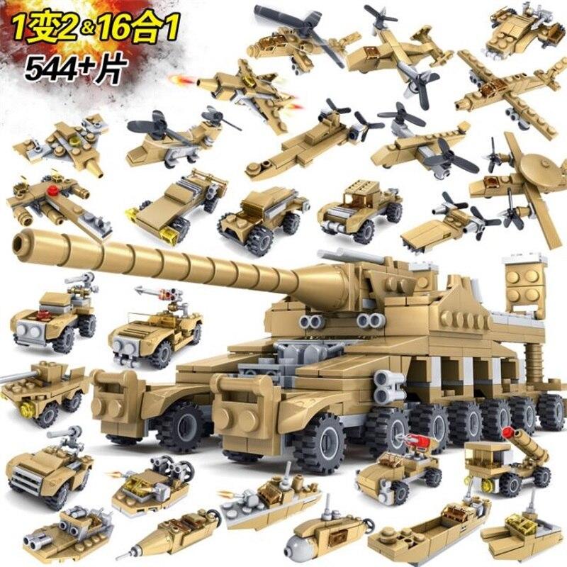 16 dans 1 Blocs de Construction Thunder guerre Jouets Arme Gun Blocs Assemblés ABS building block jouets pour enfants Compatible avec legoe