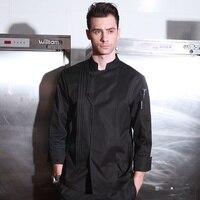 New Arrival Autumn Winter Hotel Restaurant Kitchen Man Chef Jacket Long Sleeve Work Wear Uniform Cook