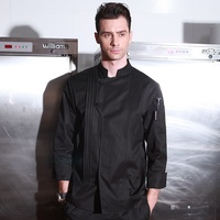 New Arrival Autumn Winter Hotel Restaurant Kitchen Man Chef Jacket Long Sleeve Work Wear Uniform Cook