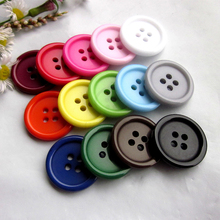 50pcs 20mm 16 colors / Mixed color Good quality thin edge casual coat buttons for clothing Basic good sewing supplies