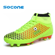 Mens Botas de Fútbol Cornamusas FG Picos Largos Hombres Botas de Fútbol Zapatos de Entrenamiento de Fútbol Al Aire Libre Zapatos Chuteira Futebol Fútbol Bonito