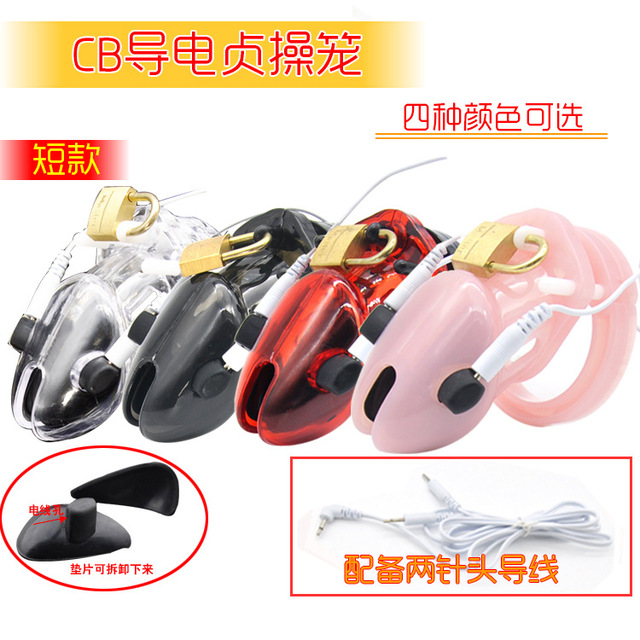 2016 new CB6000s Electro Shock penis cage Penis Lock Plastic Male Chastity Device Penis ring cock rings Cock Cage Sex products