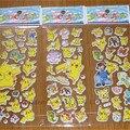 3 pçs/lote Brinquedo Modelo de Espuma Etiqueta Dos Desenhos Animados 3D Pikachu Pikachu Pikachu Moda anime juguetes figura de ação