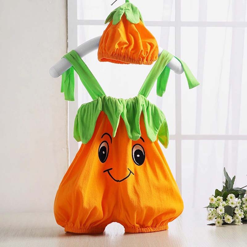 Halloween baby costume pumpkin strawberry bee clothing set bodysuit infant toddler kids boys girls clothes baby boys clothes set 2pcs kids boy clothing set newborn infant gentleman overall romper tank suit toddler baby boys costume