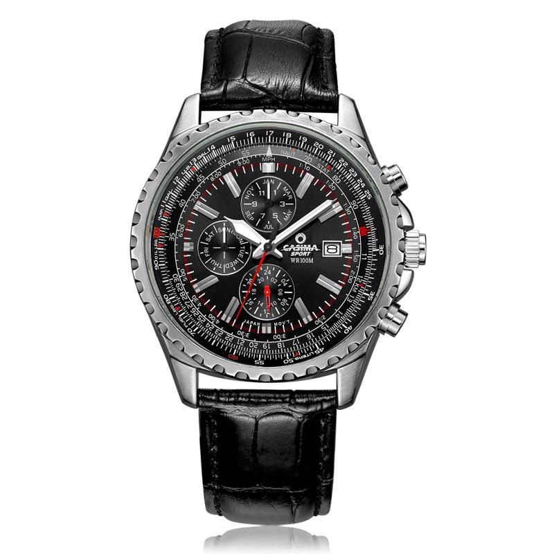 Prix pour Marque de luxe montres hommes mode classique sport mens quartz montre-bracelet relogio masculino étanche 100 m CASIMA #8882