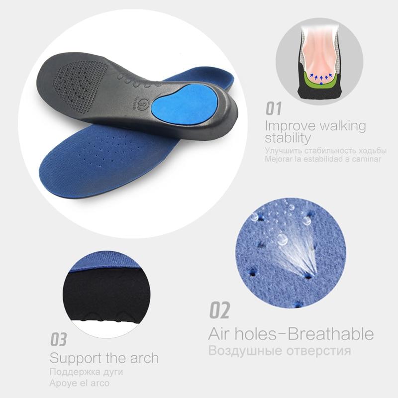 Adult Orthesen Einlegesohlen Atmungsaktive 3D Komfortable EVA - Schuhzubehör - Foto 3