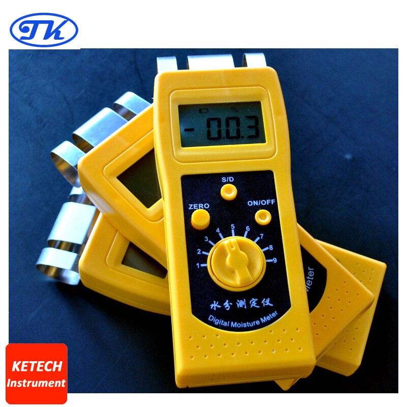 High Performance Portable Digital Textile Moisture Meter Tester DM200T dm200t 0 50