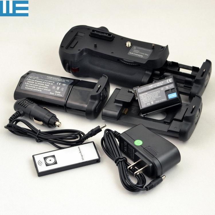 MB-D12 Battery Grip+IR Remote Control+EN-EL15 Battery+EN-EL18A EN-EL18 Battery+Charger For Nikon D800 D800E D810 Cameras