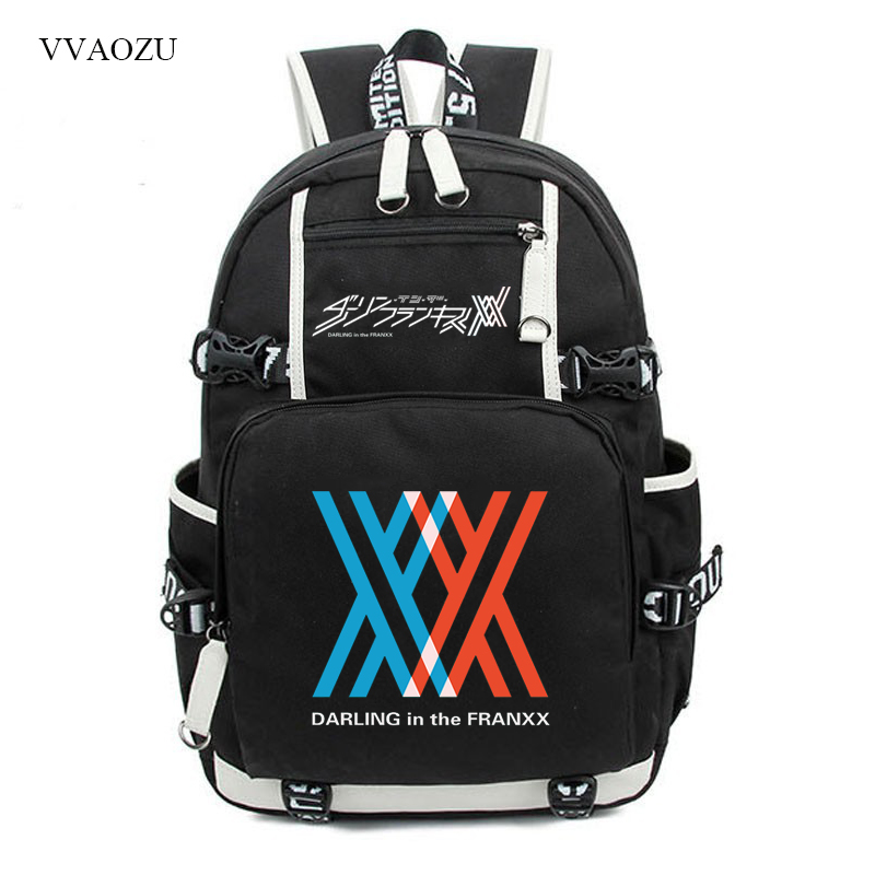 DARLING in the FRANXX Cosplay ZERO TWO CODE 02 016 Backpacks School Bag Travel Bags Rucksack For Teenagers Boys Girls new zero two cosplay costumes 002 darling in the franxx dyesub printed zentai bodysuit women girls lady lycra female plugsuit