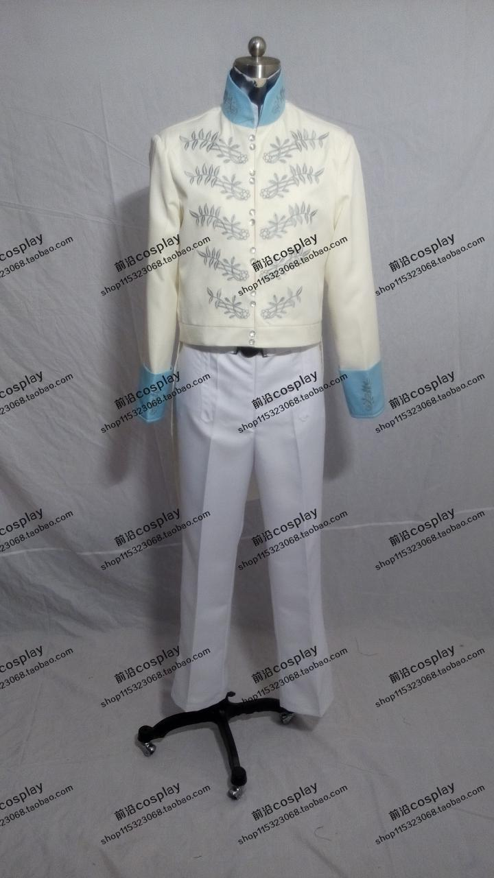2016 Cinderella Prince Charming Richard Madden Cosplay Embroidery Tuxedo Suit Outfit Attire Mens Halloween Costumes Custom-made