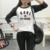 Engraçado tee carta KARL É MEU PAI impressão tee longo camiseta de algodão de manga top mulheres 2017 patchwork solto camisa harajuku CGF10014