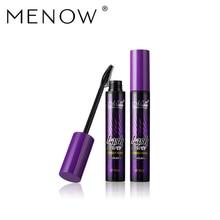 Menow 3D fiber lashes mascara Thick lengthening mascara black Maximum Curling lash powder mascara MN090 good muscle mascara