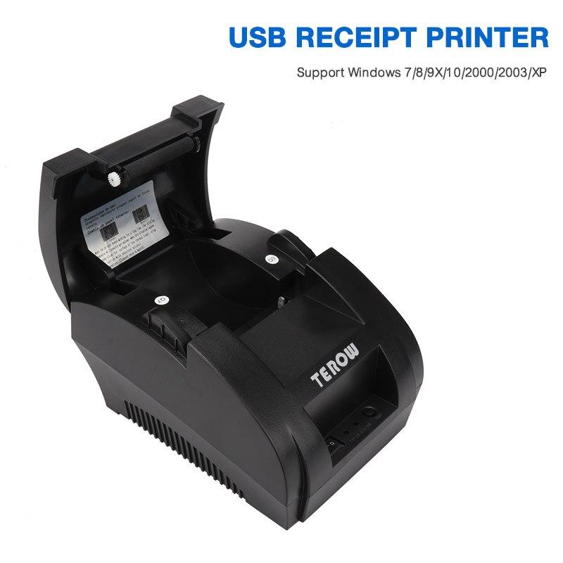 TR-5890K Tragbare Mini 58mm POS Erhalt Thermische Drucker mit USB Port Für Kommerziellen Einzelhandel POS Systeme EU/UNS /AU STECKER