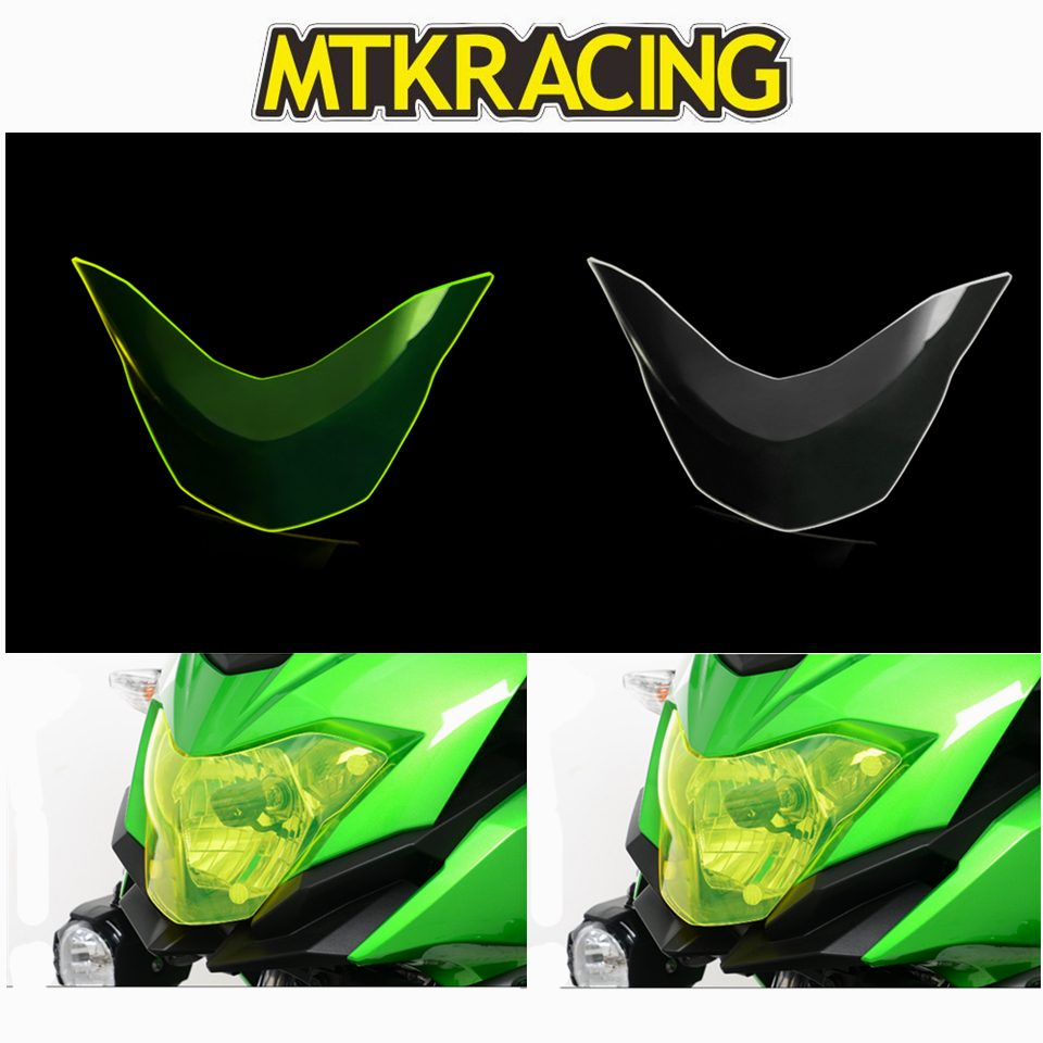 MTKRACING FOR KAWASAKI VERSYS X 300 VERSYS X 300 VERSYS X300 2017 motorcycle Headlight Protector Cover Shield Screen Lens in Covers Ornamental Mouldings from Automobiles Motorcycles