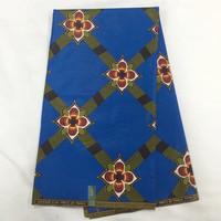 2017 Ankara African Polyester Wax Prints Fabric Super Hollandais Wax High Quality 6 Yards African Fabric