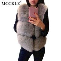 Women S Faux Silver Fox Fur Short Vests 2016 Winter Fashion Thick Imitate Fur Sleeveless Vest