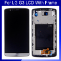 100% Original Free shipping Replacement For LG Optimus G3 D850 D855 LCD Touch Screen Digitizer Assembly +Frame Black Color